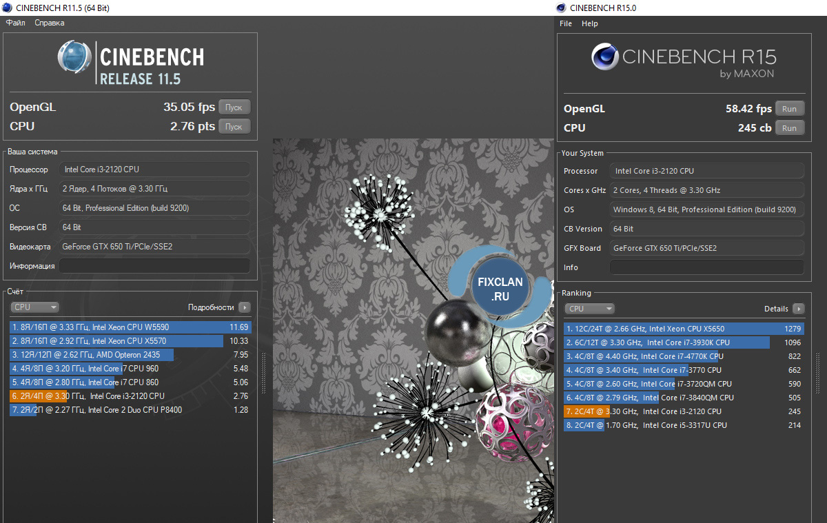 cinebench i3-2120 gtx 650 ti
